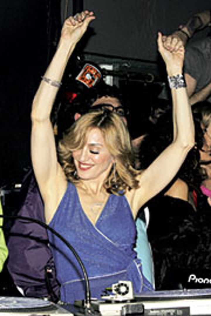 Madonna's DJ spot at the MisShapes party was top secret...until it hit the blogosphere.