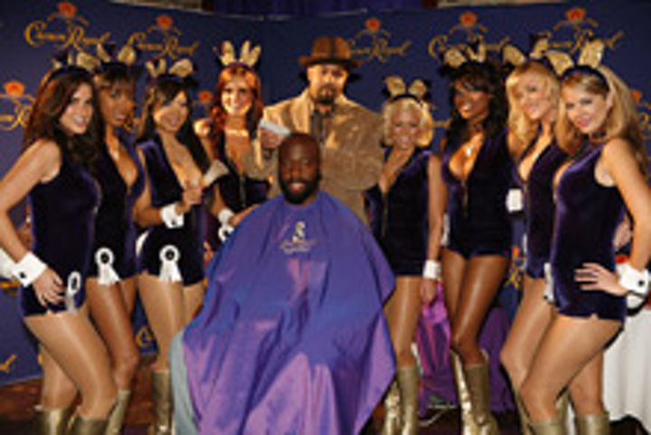 Playboy bunnies at the Crown Royal Barbershop event