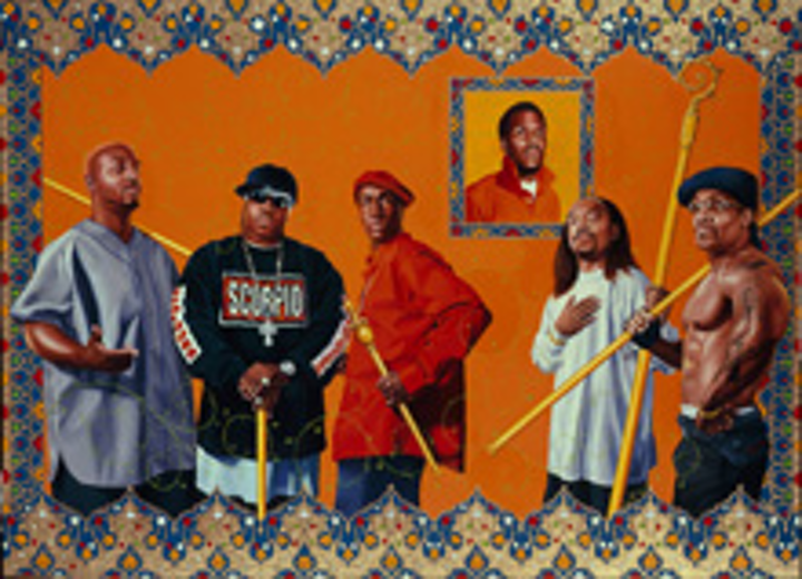 Grandmaster Flash and the Furious Five, painted by Kehinde Wiley