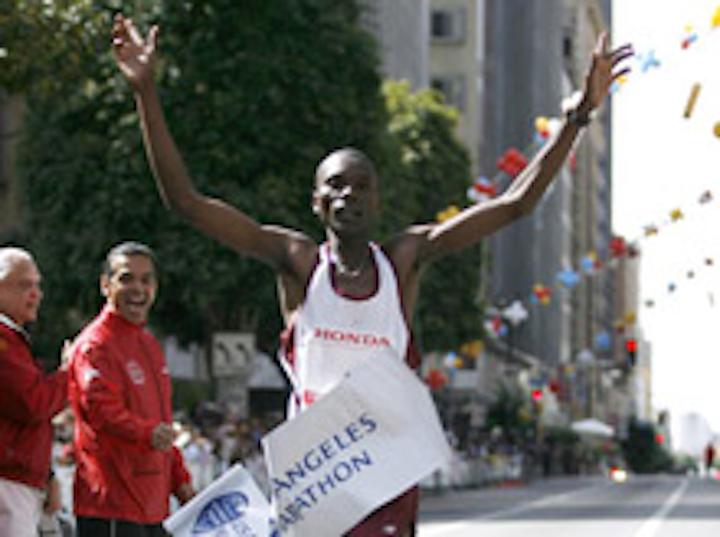 The Los Angeles marathon