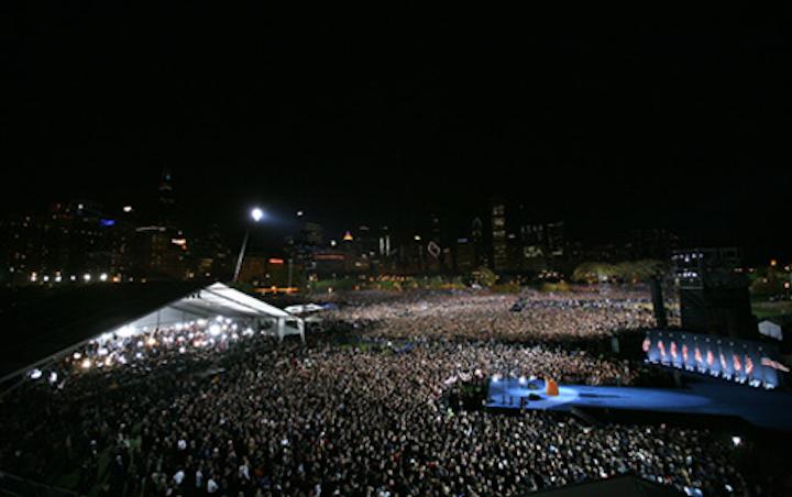 Obama 's Grant Park rally