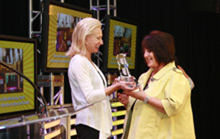 Warner Brothers ' Hillary Harris (right) and BizBash Los Angeles president Elisabeth Familian