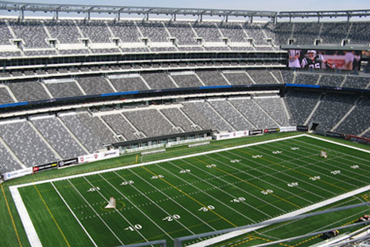 The new field at the new Meadowlands Stadium