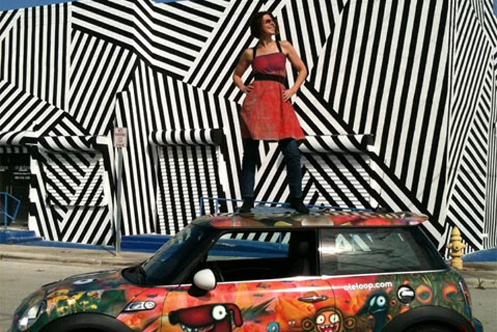 A caravan of Mini Coopers covered in colorful pop art will fill Miami streets during Art Basel.