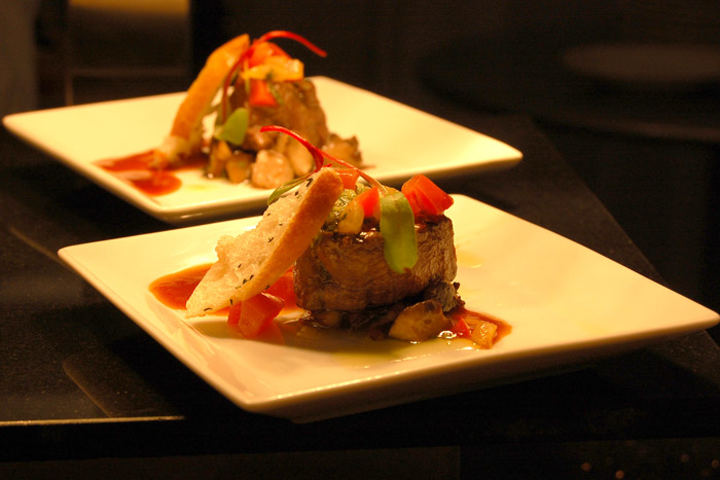 At the 32nd annual Genie Awards, organizers opted to serve passed dishes rather than host a sit-down dinner. The Westin Harbour Castle created composed plates like seared Alberta Black Angus medallions with a chimichurri pesto, tomato sofrito, herb crostini, and veal jus.