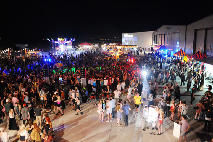Thousands of guests flooded 944 and Armani Exchange's late-night second-annual Neon Carnival during the 2011 Coachella festival.