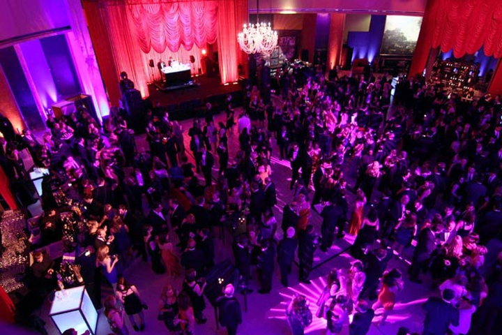 Politicians, celebrities, and the media mix at last year's MSNBC party.