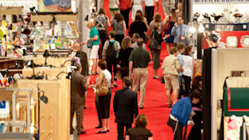 #8 Trade Show & Convention The largest gift trade show in Canada, the Canadian Gift & Tableware Association Gift Show in Toronto takes up more than a million square feet of exhibition space twice a year. Next: August 12-15, 2012; January 27-31, 2013