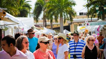 #3 Parade & Festival This year, Delray Affair marked its 50th anniversary by bringing 250,000 people to Atlantic Avenue in Delray for three days of arts, crafts, and food. Next: April 5-7, 2013