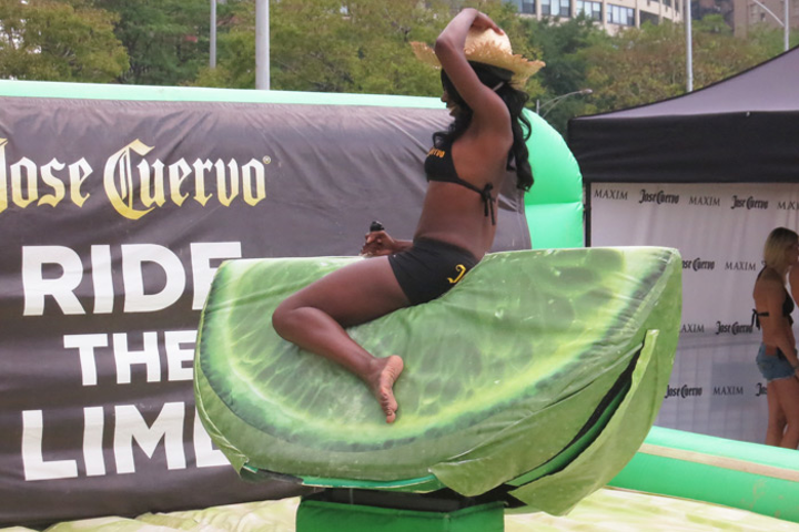 Activities at the beach event included a game called 'Ride the Lime.'