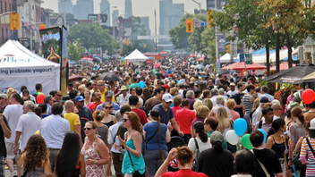 #6 Festival & Parade Last year, Taste of the Danforth attracted a record 1.5 million people to Greektown for performances, entertainment, and, of course, food. Next: August 10-12, 2012