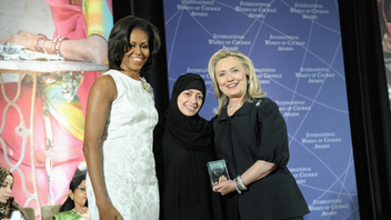 #14 Political & Press Event This year's Secretary of State's Award for International Women of Courage included remarks from First Lady Michelle Obama and Secretary of State Hillary Clinton as they honored advocates for women's rights from countries including Afghanistan, Brazil, Libya, and Sudan. Next: spring 2013