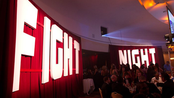 #2 Benefit In 2011, the boxing benefit Fight Night drew some 1,700 guests and raised just more than $2 million, while sister gala Knock Out Abuse raised $541,000 to fight domestic violence. The events have different themes and entertainment and are run by separate organizations, but get together for a joint after-party. Next: November 1, 2012