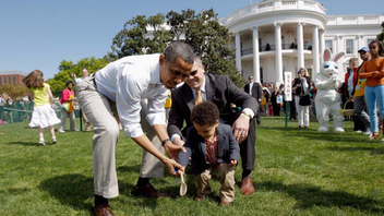 #2 Holiday Event The 134th annual White House Easter Egg Roll promoted physical fitness and healthy eating with all-star athletes and celebrity chef cooking demonstrations, while the event also added a social media dimension by awarding last-minute tickets to parents who follow First Lady Michelle Obama's Let's Move campaign on Twitter or Facebook. Next: April 1, 2013