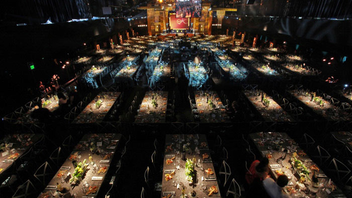 #5 Entertainment & Media Event Screen Actors Guild Awards dole out statuettes during a dinner show at the Shrine Exposition Center early each award season. Jeff Margolis Productions, in association with Screen Actors Guild Awards L.L.C., produces. Next: January 27, 2013