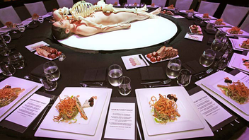 #1 Art & Design Event The buzzy benefit draws attention for its experiential events tied to exhibits and artists. The 2011 Museum of Contemporary Art, Los Angeles' gala under the artistic direction of Marina Abramović drew 750 patrons who donned white lab coats and ate their dinner as apparently disembodied heads, positioned as table centerpieces, stared at them. Next: November 17, 2012