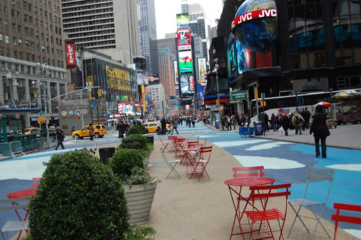 Broadway between 33rd and 44th Streets will become Super Bowl Boulevard for next year's Super Bowl in New York.