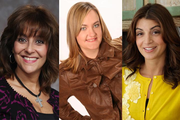 Bonnie Fimiano, Elizabeth Glau, and Mary Giuliani