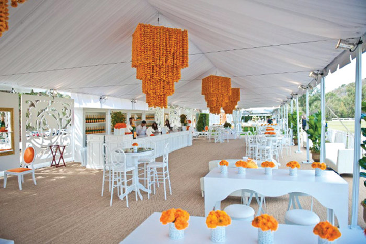 BrownHot Events used Signature Systems Group's 'Seagrass' sisal carpet at the tent for Veuve Clicquot's Polo Classic event in October.