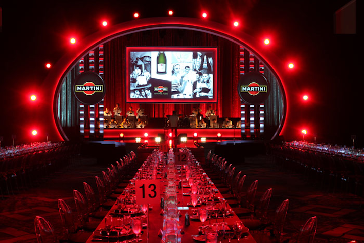 The stage lighting at the Bacardi U.S.A. Awards Show changed for each of the company's brands.