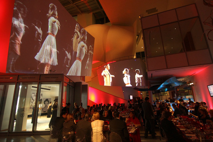 Video projections were mapped onto the unique architecture of the Frank Gehry-designed New World Center.