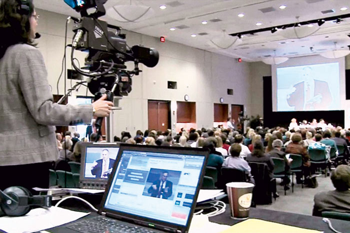 In 2012, Educause streamed 63 conference sessions live to an online audience.