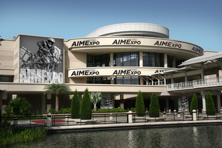 A rendering shows how the event signage will be placed on the outside of the Orange County Convention Center.