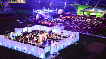 #1 Benefit (up from #3) The Best Buddies nonprofit welcomed 850 guests to Marlins Park for an epic gala last year, building two separate rooms on the stadium's field for a reception and concert in which LMFAO performed. The event raised $2 million. Next: November 22, 2013