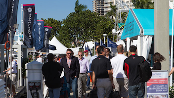 #1 Trade Event, Expo & Convention With three million square feet of exhibit space covering six different locations, the event is considered the world's largest boat show. This year's expo added glitzy new attractions like SeaFair, a restaurant/bar/art exhibit housed on a 228-foot yacht, and Sailfish Pavilion, an indoor-outdoor area complete with an offshore racing boat and a fishing pond. Next: October 30-November 3, 2014