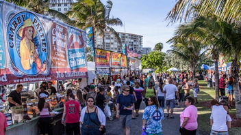 #5 Food & Restaurant Industry Event (up from #6) Some 25,000 people flock to Pompano Beach each spring for Florida's most venerable homage to the fruits of the sea. Next: April 25-27, 2014