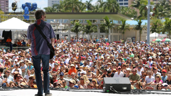 #4 Music, Theatre & Dance Event A diverse array of artists—from classic rockers Cheap Trick to Miami-based reggae act Shifta—brought more than 270,000 attendees to West Palm Beach's biggest music festival in 2013. Next: April 30-May 4, 2014