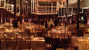 7. For the Whitney Museum of American Art's gala in October, event designer David Stark created a dining room that incorporated artist materials, including canvas stretchers that hung in various sizes from the ceiling. Click to Like, Comment, or Follow Us on Instagram