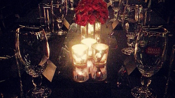 9. After unveiling a festive holiday window to promote its limited-edition crystal chalice, Stella Artois hosted a formal dinner for celebrities, media, and other influential New Yorkers at Bar Nana. Designed and produced by HL:Creative, HL Group's experiential marketing division, the soiree included dinner tables set with black linens and topped with arrangements of red roses. Click to Like, Comment, or Follow Us on Instagram