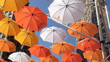 15. Skincare brand La Roche-Posay's street promotion in June brought a colorful suspended installation of branded umbrellas to New York's Madison Square Park. Click to Like, Comment, or Follow Us on Instagram