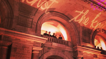 17. In October, the Knot's annual gala for wedding industry professionals took over the New York Public Library. A horn group from Hank Lane Music surprised the crowd by playing from the second-floor balcony before heading downstairs to the main stage. Click to Like, Comment, or Follow Us on Instagram