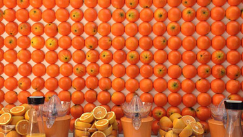 6. Promoting the introduction of its Joe Fresh Kids collection in stores, J.C. Penney built a live orange grove in the middle of New York's Times Square in August. Open early in the morning, the public stunt included a wall of oranges that served as the backdrop to the bar where staff poured complimentary cups of freshly squeezed orange juice. Click to Like, Comment, or Follow Us on Instagram