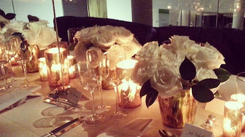 2. In November, the Museum of Modern Art's sixth film benefit paid tribute to actress Tilda Swinton. The Chanel-sponsored evening at the museum's New York home included a dinner elegantly set with arrangements of white roses in gold vases. The understated look for the event was produced by Prodject. Click to Like, Comment, or Follow Us on Instagram