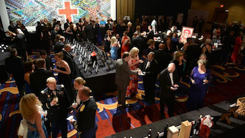 #23 Benefit (up from #27) This year, the gala's decor centerpiece was a wall of 3,000 photos arranged to form the organization's logo against a colorful backdrop. The images showed how the American Red Cross impacted people's lives through blood drives, disaster relief, and health and safety training. The event drew 500 people and raised $500,000. Next: October 18, 2014