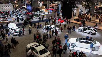 #1 Trade Show & Convention The 70th annual Washington Auto Show opens to the public following three days of press and policymaker preview events. This year, organizers reworked the show's 767,600-square-foot layout by bringing luxury car lines onto one level and aligning mid-priced brands on the second floor of the Walter E. Washington Convention Center. Next: January 24-February 2, 2014