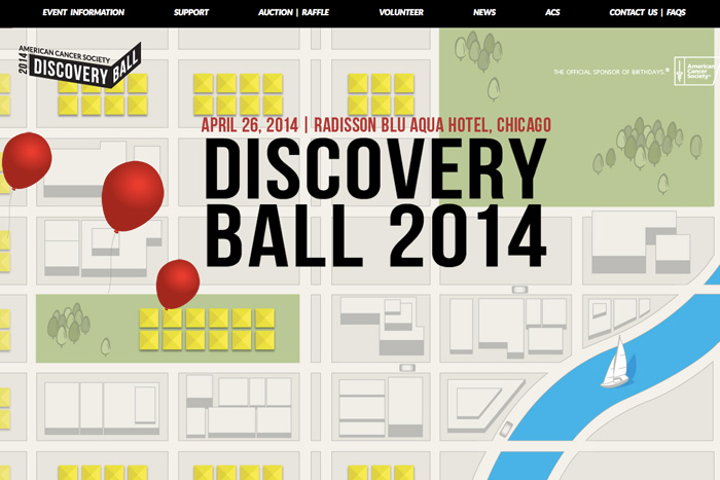 The Web site for the American Cancer Society's Discovery Ball in Chicago has animation, so planner Lee Kite works with a web developer to ensure the site is viewable on smartphones and other devices.