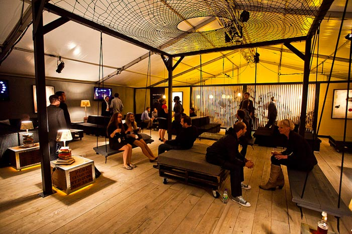 Organizers of the C2-MTL conference experiment with ideas—from spaces for delegates to relax between sessions (pictured), to speaker introductions and ways to involve attendees.