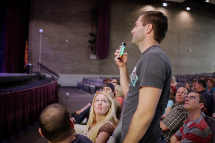 The new Crowd Mics app allows meeting and event organizers to turn attendee smartphones into microphones.