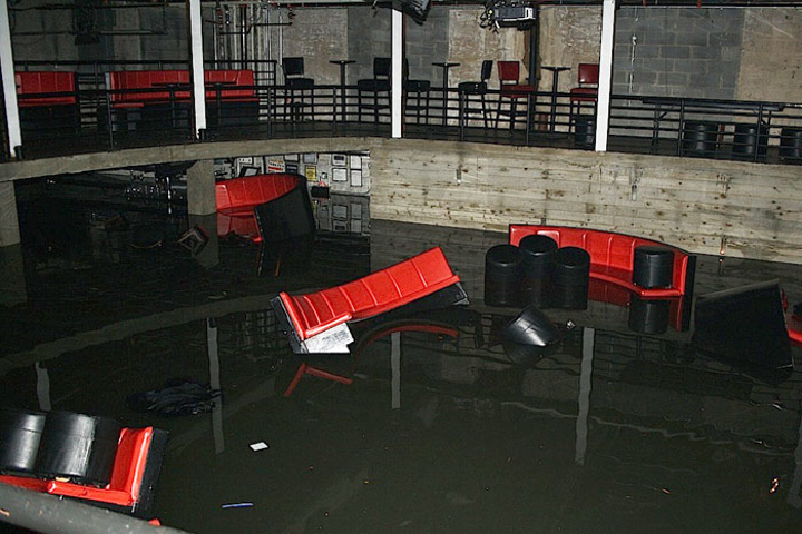 Hurricane Sandy flooded New York's Galapagos Art Space. Event pros advise incorporating a force majeure clause into a contract.