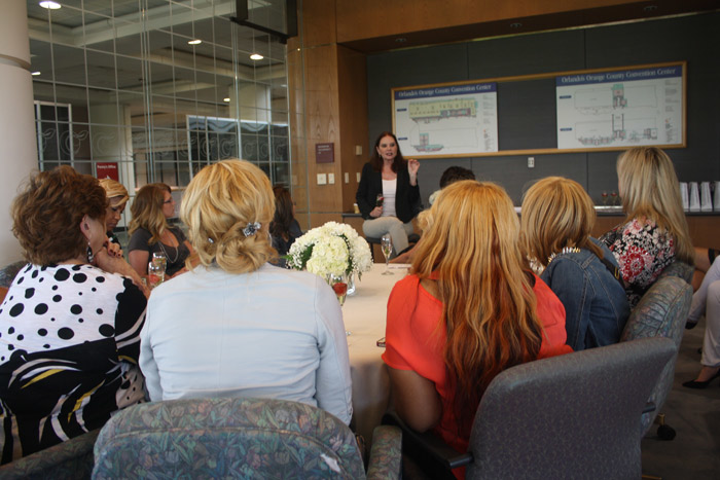 For one of the 'Beautiful Experiences,' hair color expert Beth Minardi hosted a private question-and-answer session that included gift bags and champagne and strawberries for the 10 attendees.