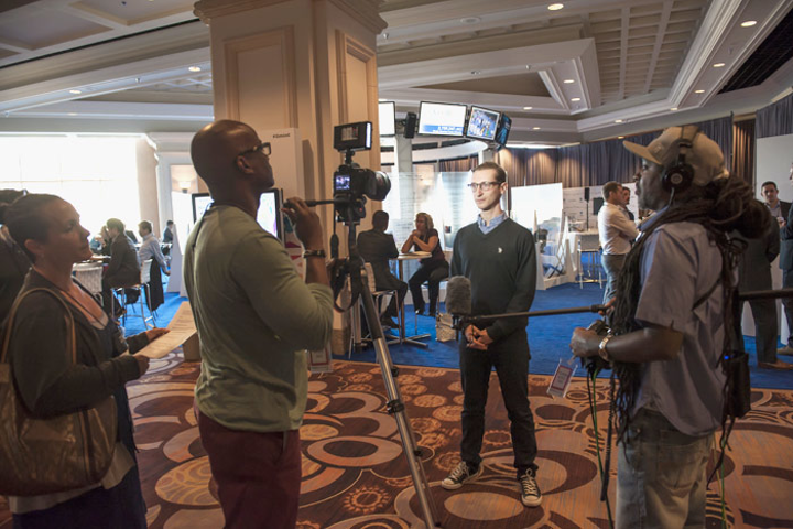 Consider employing a video crew to travel around your event and record interviews with attendees, exhibitors, and sponsors that can be shown both during the event and in the months afterward.