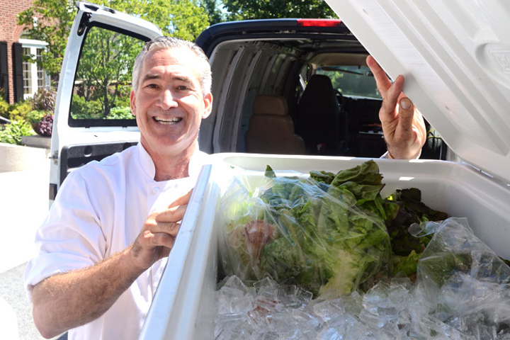 Tony Ambrose of Ambrosia Catering participates in NACE New England's Feeding Our Neighbors initiative, donating surplus food to Boston Rescue Mission. Perishable items should be properly stored and donated within 24 hours of an event.