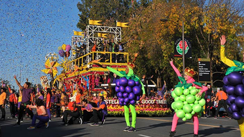 Los Angeles #4 Festival, Parade & Holiday Event Held before the Rose Bowl football game, the parade has been a New Year's Day tradition since 1980. The nationally televised event includes intricate floral and organic floats. Next: January 1, 2015