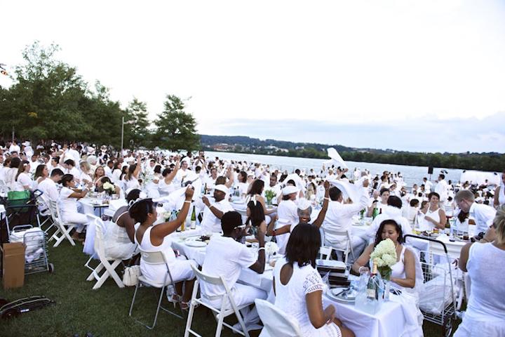 Washington's first Dîner en Blanc took place at Yards Park and drew 1,500 participants.
