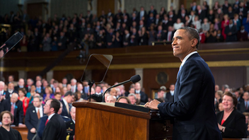 #1 Political & Press Event Required by the U.S. Constitution, the president's address to Congress was originally called the 'Annual Message.' Now it's the highest form of political theater, with all three branches of the federal government represented and intense coverage from the media. Next: January-February 2015
