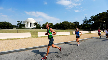 #6 Sports Event The race course makes its way past the city's landmarks, including the Jefferson Memorial and Washington Monument. The triathlon, which benefits the Leukemia & Lymphoma Society, completed its ninth year in 2014. Next: September 13, 2015